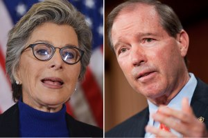 Senators Barbara Boxer (D-CA) and Tom Udall (D-NM), the sponsors of the two competing bills to reform the Toxic Substances Control Act currently under consideration in the Senate. http://www.usnews.com/news/articles/2015/03/18/green-groups-split-on-competing-chemical-reform-bills