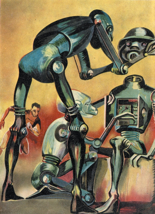 Artwork for the cover of a 1959 issue of the French science fiction magazine Galaxie CCI/Art Archive/Art Resource via nybooks.com